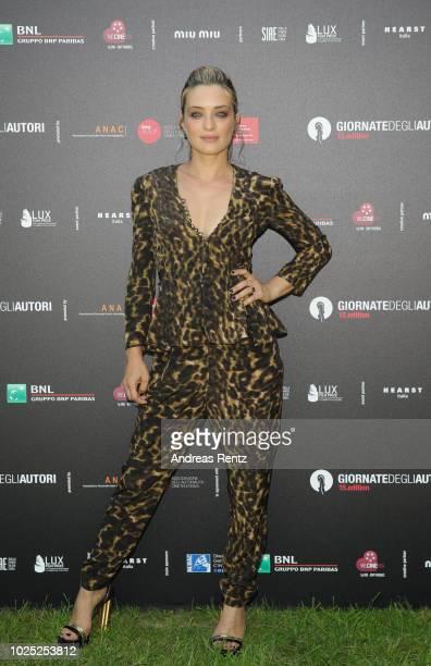 Luigi De Laurentis jury member Carolina Crescentini attends Illuminate photocall during the 75th Venice Film Festival at Villa degli Autori on August...