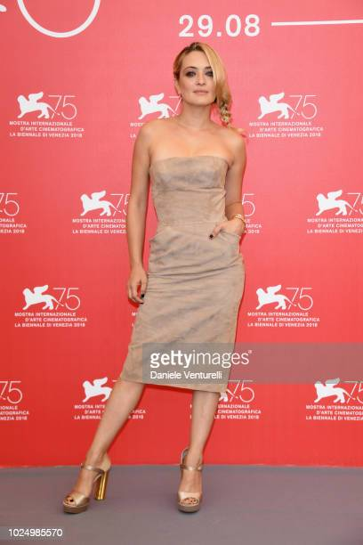 Luigi De Laurentis jury member Carolina Crescentini attends the Jury photocall during the 75th Venice Film Festival at Sala Casino on August 29 2018...