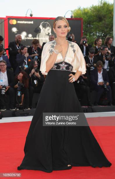 Luigi De Laurentis jury member Carolina Crescentini walks the red carpet ahead of the opening ceremony and the 'First Man' screening during the 75th...