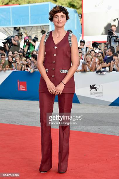 Luigi de Laurentis Venice Award for a Debut Film Jury member Alice Rohrwacher attends the Opening Ceremony and 'Birdman' premiere during the 71st...