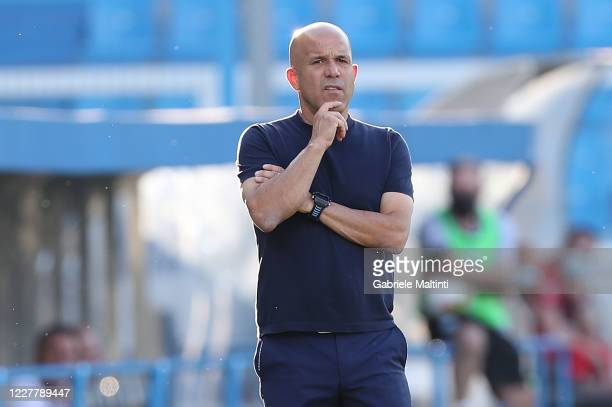 Luigi Di Biagio manager of SPAL looks on during the Serie A match between SPAL and Torino FC at Stadio Paolo Mazza on July 26, 2020 in Ferrara, Italy.