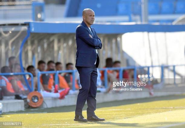 Luigi Di Biagio of SPAL reacts during the Serie A match between SPAL and Cagliari Calcio at Stadio Paolo Mazza on June 23, 2020 in Ferrara, Italy.