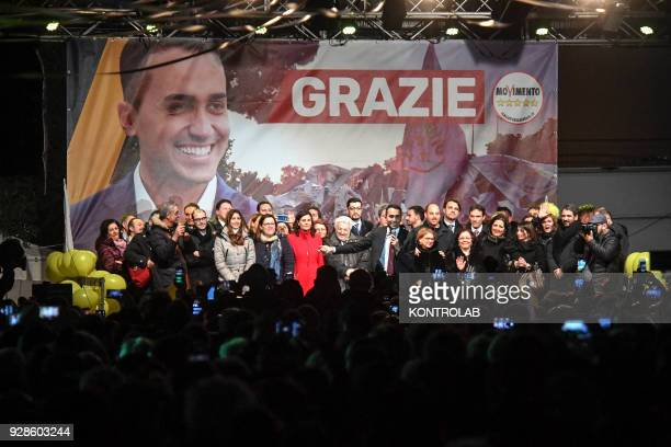 Luigi Di Maio, after his election, meets the militants of italys populist five star movement in the municipalities of the province of Naples that...