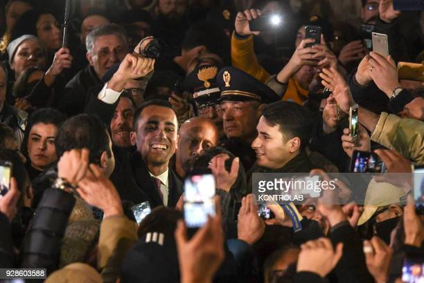 Luigi Di Maio after his election meets the militants of the italys populist five star movement in the municipalities of the province of Naples that...