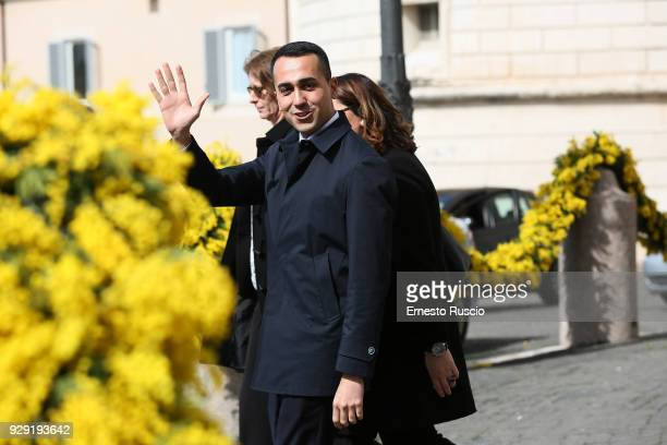 Luigi Di Maio arrives at the International Women's Day Celebrations at Palazzo del Quirinale on March 8 2018 in Rome Italy
