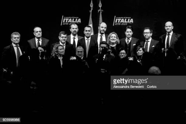Luigi di Maio candidate and leader of Five Stars Movement attends the presentation of his wouldbe cabinet in case of election victory on March 1 2018...