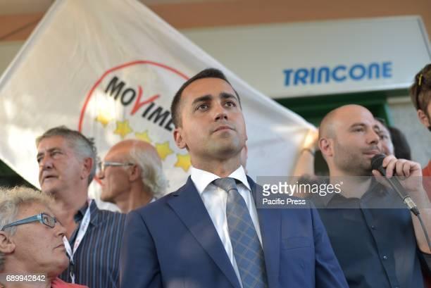"Luigi Di Maio during his election campaign in favor of mayor candidate Antonio Caso of the ""Movimento 5 Stelle""."