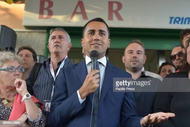 MONTERUSCELLO POZZUOLI NAPOLI ITALY Luigi Di Maio during his election campaign in favor of mayor candidate Antonio Caso of the Movimento 5 Stelle
