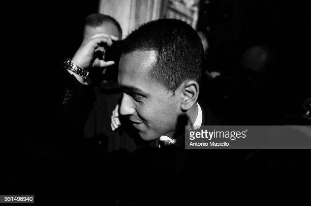 Luigi Di Maio leader of 5Star Movement attends a meeting with foreign press on March 13 2018 in Rome Italy