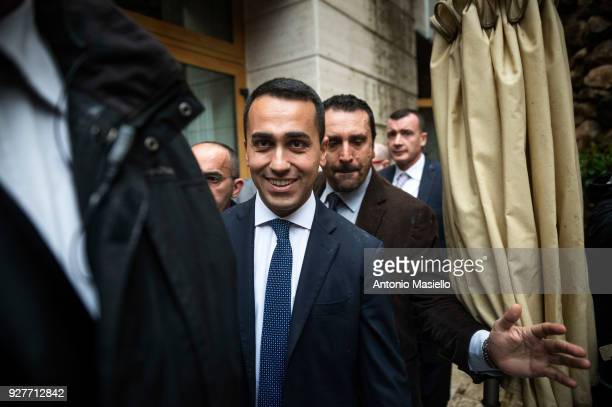 Luigi Di Maio leader of 5Star Movement takes part at the press conference after the Italian general election on March 5 2018 in Rome Italy...