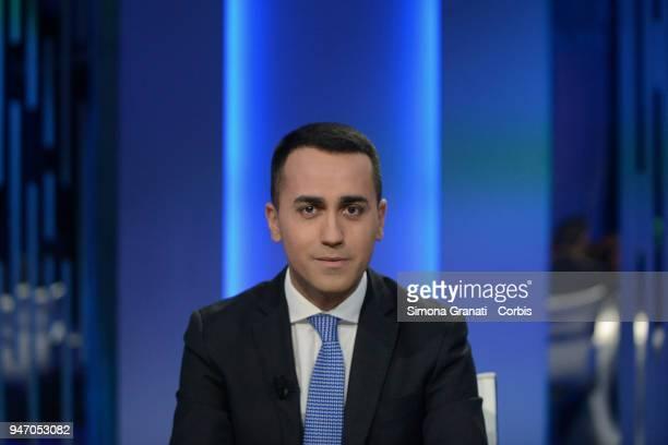 Luigi Di Maio leader of Five Stars Movement attends Otto e Mezzo talk show on April 16 2018 in Rome Italy