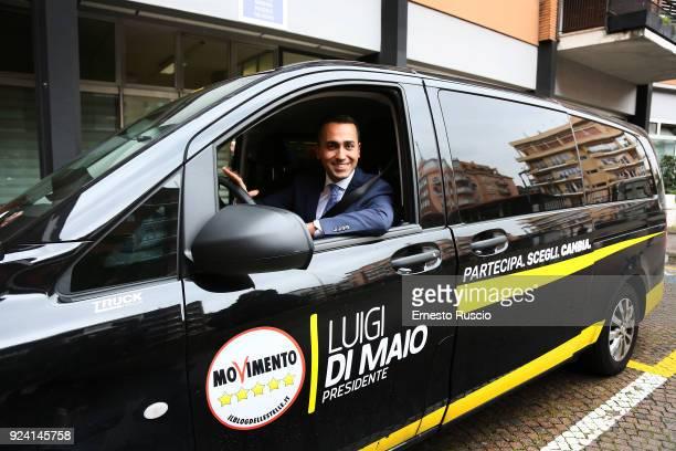Luigi Di Maio leader of the Italian antiestablishment Five Star Movement attends the '1/2 h in Piu' TV Show at RAI on February 25 2018 in Rome Italy...