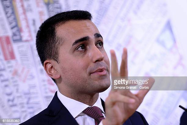 Luigi Di Maio of Movement 5 Stars during the presentation to the foreign press of I say no to save Italy's future the subject of the press conference...