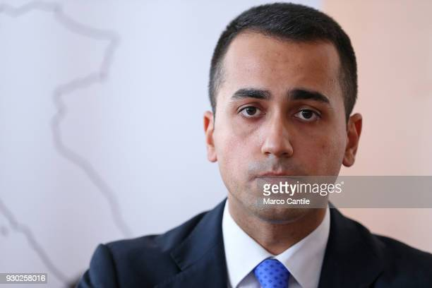 Luigi Di Maio one of the leaders of the italian political Movement 5 Stars during a press conference