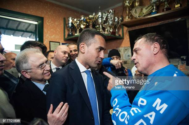 Luigi Di Maio premier candidate for the Five Star Movement at the next Italian Political Elections visiting the Star Judo gym in Scampia welcomed by...