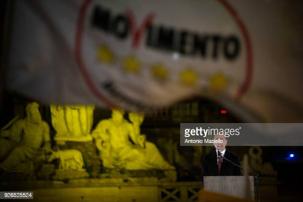 Luigi Di Maio takes part to the final rally of Five star Movement for the upcoming general political election on March 02 2018 in Rome Italy The...
