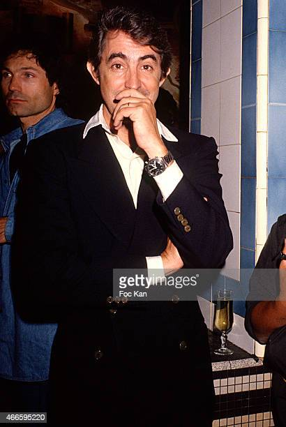 Luigi D'Urso attends a fashion week Party at Les Bains Douches in the 1990s in Paris France