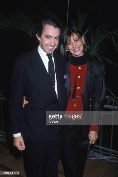 Luigi d?Urso et Ines de la Fressange lors de la soirée organisée par Giovanni Agnelli le 11 octobre 1988, France.