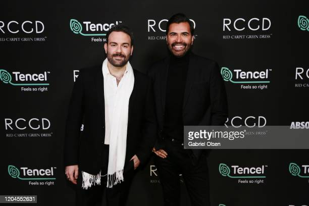 Luigi Irauzqui and Daniel Louis Baseggio attend Red Carpet Green Dress at the Private Residence of Jonas Tahlin CEO of Absolut Elyx on February 06...