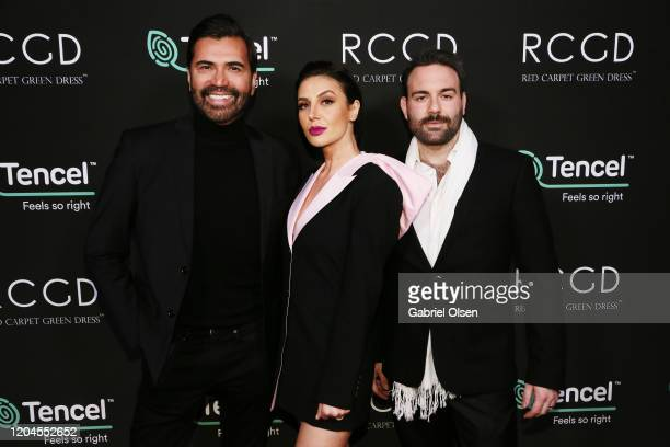 Luigi Irauzqui guest and Daniel Louis Baseggio attend Red Carpet Green Dress at the Private Residence of Jonas Tahlin CEO of Absolut Elyx on February...