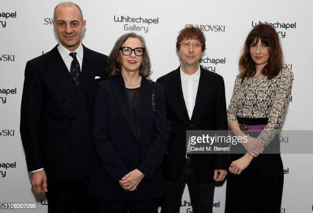 Luigi Maramotti Phoebe Unwin and guests attend a glamorous gala dinner at Whitechapel Gallery as Rachel Whiteread is celebrated as the recipient of...