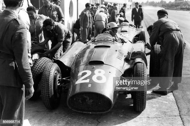Luigi Musso Eugenio Castellotti Ferrari D50 Grand Prix of Italy Autodromo Nazionale Monza 02 September 1956