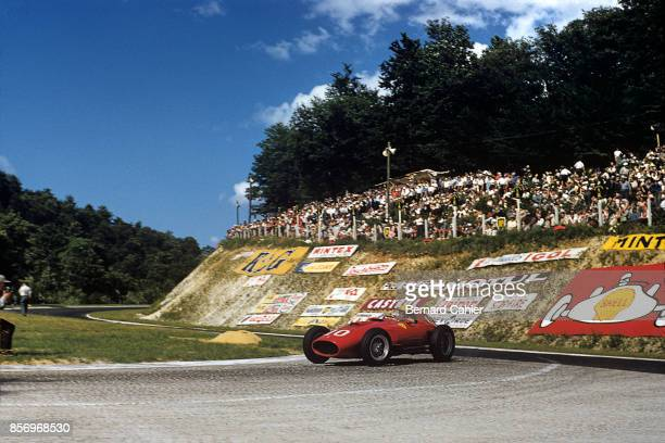 Luigi Musso Ferrari 801 Grand Prix of France RouenLesEssarts 07 July 1957