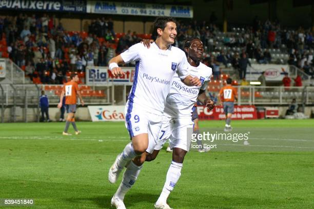 Luigi PIERONI / Alain TRAORE Auxerre / OFK Belgrade 2e tour preliminaire Coupe de l'UEFA