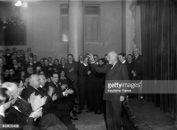 Luigi Pirandello chez les fascistes de Paris France le 2 décembre 1934