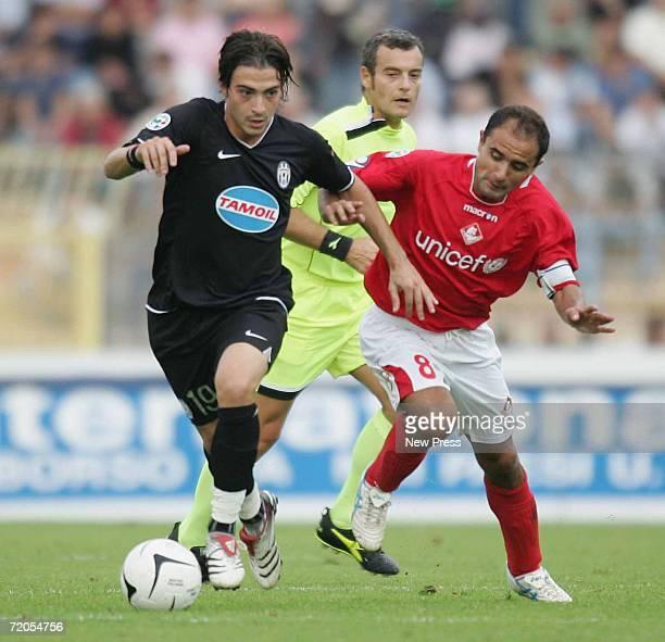 Luigi Riccio of Piacenza and Matteo Paro of Juventus in action during the Serie B match between Piacenza and Juventus at the Stadio Leonardo Garilli...