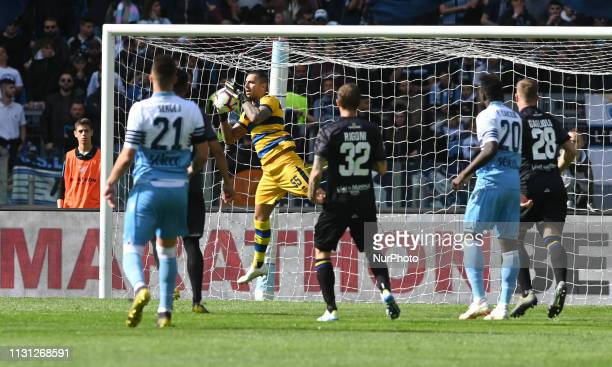 Luigi Sepe during the Italian Serie A football match between SS Lazio and Parma at the Olympic Stadium in Rome on march 17 2019