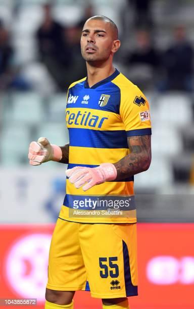Luigi Sepe goalkeeper of Parma Calcio looks on during the Serie A match between Parma Calcio and Empoli at Stadio Ennio Tardini on September 30 2018...