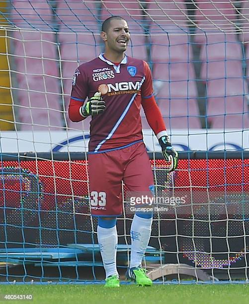 Luigi Sepe of Empoli in action during the Serie A match between SSC Napoli and Empoli FC at Stadio San Paolo on December 7 2014 in Naples Italy