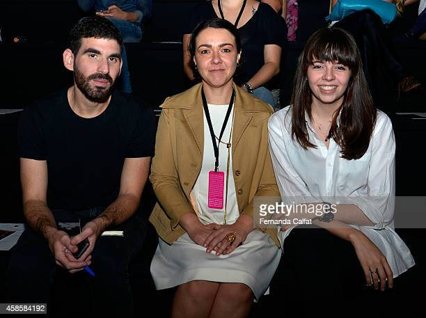 Luigui Torres Carol Hungria and Paula Jacob attend the 2nd Floor fashion show during Sao Paulo Fashion Week Winter 2015 at Parque Candido Portinari...