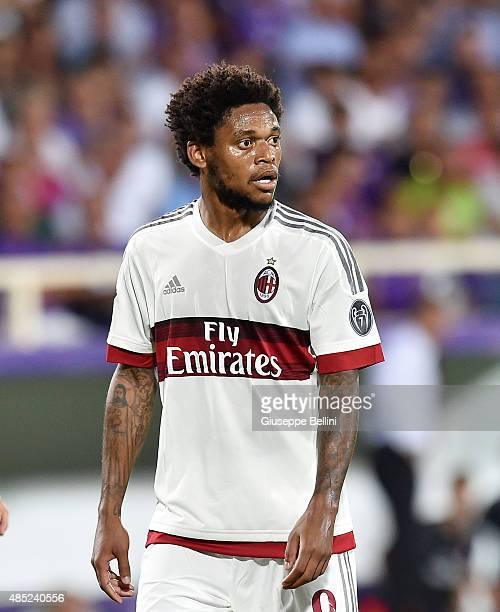 Luis Adriano of Milan in action during the Serie A match between ACF Fiorentina and AC Milan at Stadio Artemio Franchi on August 23 2015 in Florence...