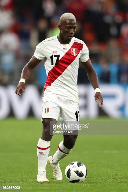 Luis Advincula of Peru in action during the 2018 FIFA World Cup Russia group C match between France and Peru at Ekaterinburg Arena on June 21 2018 in...