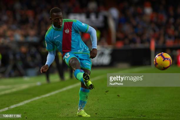 Luis Advincula of Rayo Vallecano during the La Liga match between Valencia CF and Rayo Vallecano at Mestalla Stadium on November 24 2018 in Valencia...