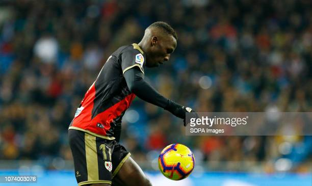 Luis Advincula seen in action during the La Liga football match between Real Madrid and Rayo Vallecano at the Estadio Santiago Bernabéu in Madrid