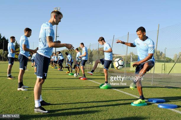 Luis Alberto and Nani of SS Lazio during the SS Lazio training session on September 5 2017 in Rome Italy