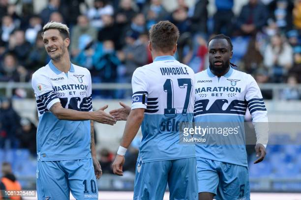 Luis Alberto Ciro Immobile during the Italian Cup football match between SS Lazio and Novara at the Olympic Stadium in Rome on January 12 2019