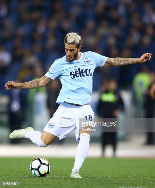 Luis Alberto of Lazio during the serie A match between SS Lazio and AS Roma at Stadio Olimpico on April 15 2018 in Rome Italy