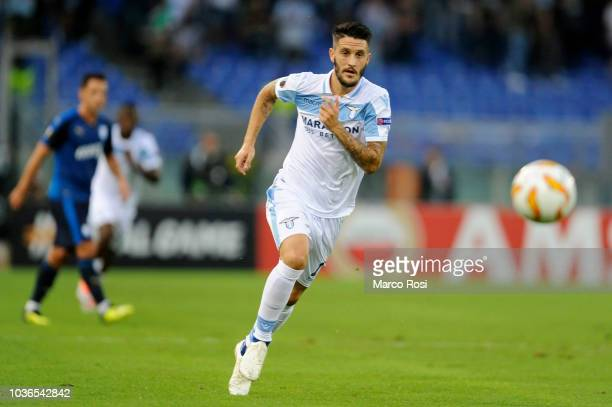 Luis Alberto of SS Laizio in action during the UEFA Europa League Group H match between SS Lazio and Apollon Limassol at Stadio Olimpico on September...