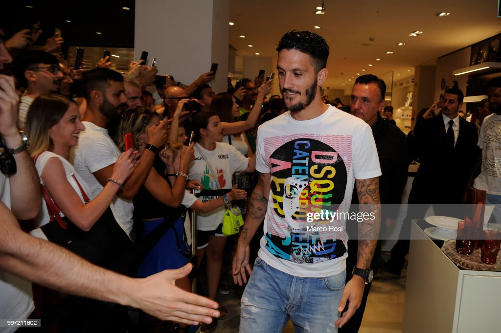 Luis Alberto of SS Lazio attend the SS Lazio unveil new shirt for 2018-19 Season on July 12, 2018 in Rome, Italy.