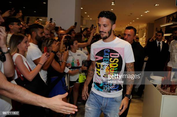 Luis Alberto of SS Lazio attend the SS Lazio unveil new shirt for 201819 Season on July 12 2018 in Rome Italy
