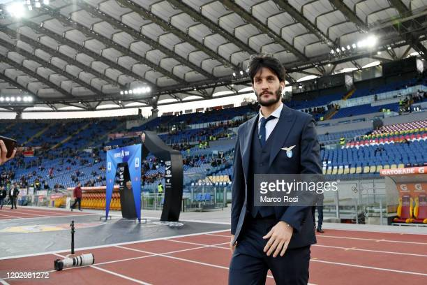 Luis Alberto of SS Lazio before the Serie A match between AS Roma and SS Lazio at Stadio Olimpico on January 26, 2020 in Rome, Italy.