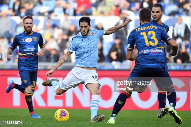 Luis Alberto of SS Lazio cckicks the ball during the Serie A match between SS Lazio and US Lecce at Stadio Olimpico on November 10 2019 in Rome Italy