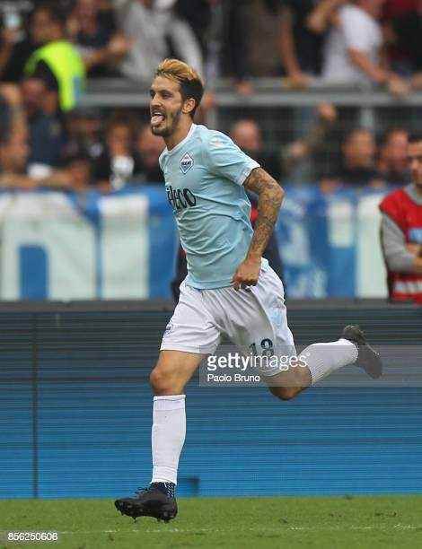 Luis Alberto of SS Lazio celebrates after scoring the team's third goal during the Serie A match between SS Lazio and US Sassuolo at Stadio Olimpico...