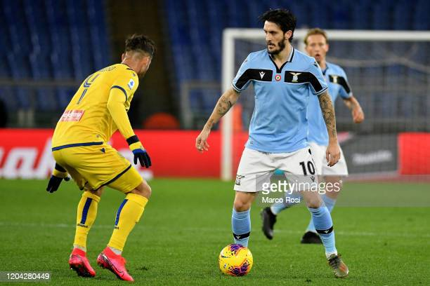 Luis Alberto of SS Lazio controls the ball during the Serie A match between SS Lazio and Hellas Verona at Stadio Olimpico on February 05 2020 in Rome...
