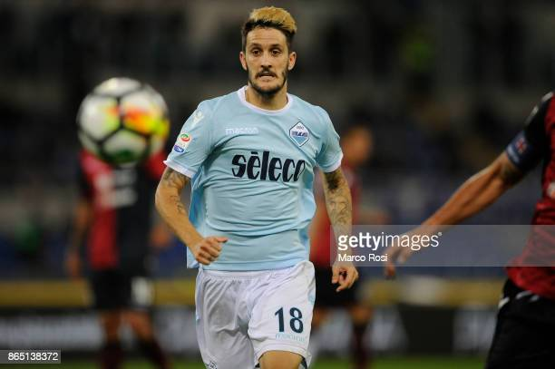 Luis Alberto of SS Lazio during the Serie A match between SS Lazio and Cagliari Calcio at Stadio Olimpico on October 22 2017 in Rome Italy