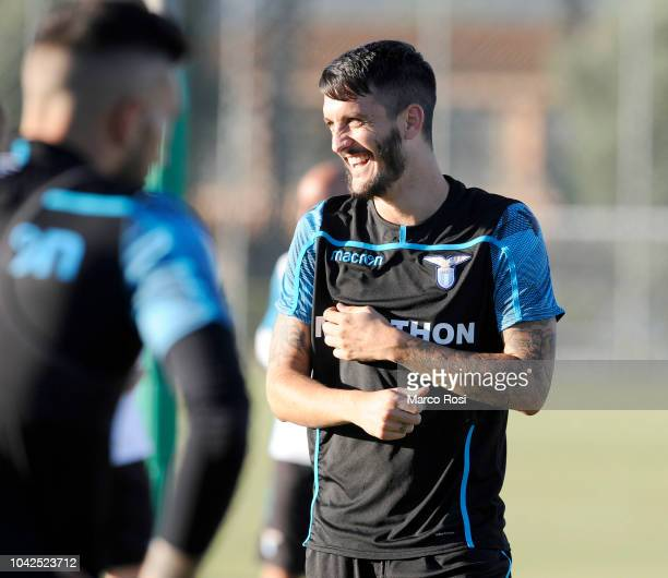 Luis Alberto of SS Lazio during the SS Lazio training session and press conference on September 28 2018 in Rome Italy